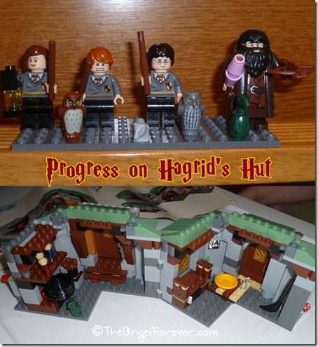 Progress on LEGO Hagrid's Hut