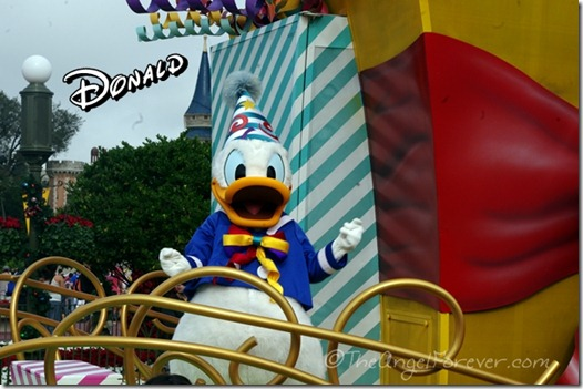 Donald Duck at the Move It! Shake It! Celebrate It! Street Party