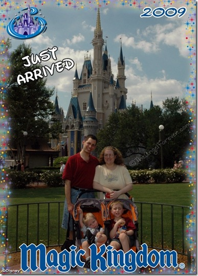 First family photo at Walt Disney World