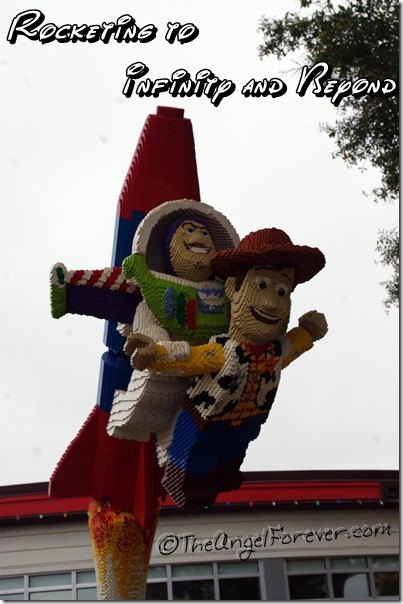 Lego Toy Story friends in Downtown Disney