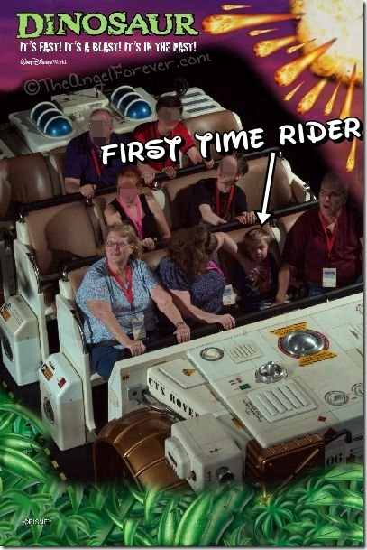 First time riding Dinosaur at Animal Kingdom