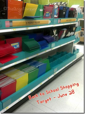 School supply shopping