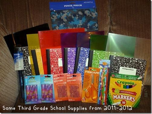 Some Third Grade Supplies