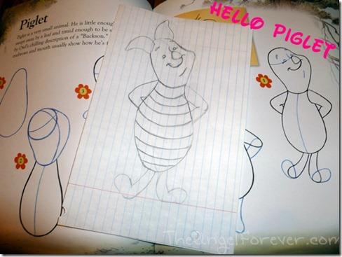 Drawing Piglet