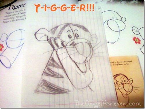 Drawing Tigger